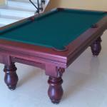 biljarski stol oslo mahagonij zeleno2